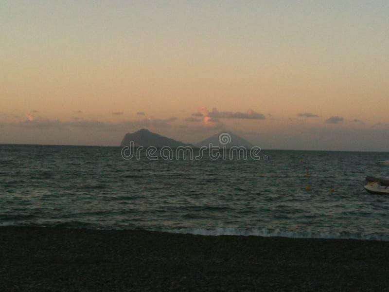 斯特龙博利岛海岛,美妙 库存图片