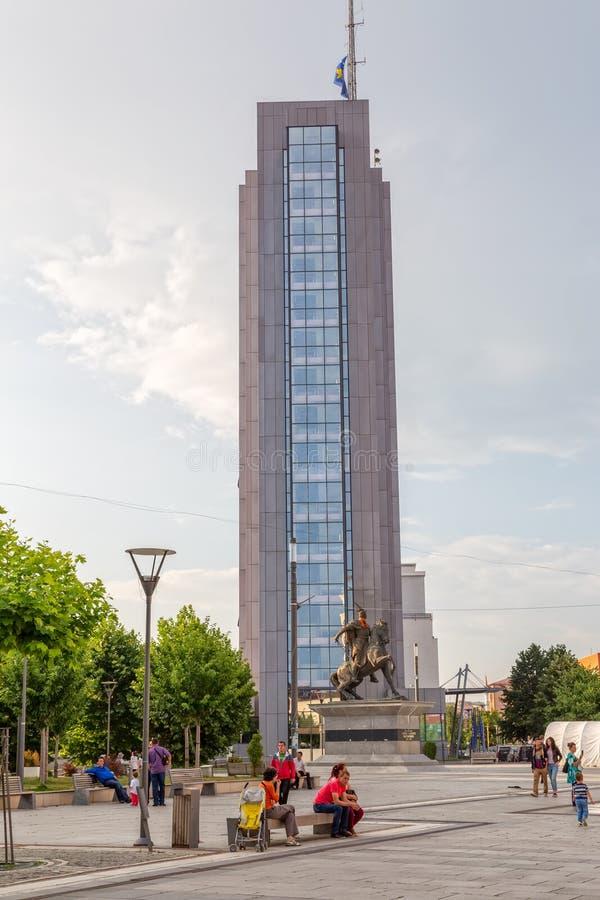 斯甘德伯广场普里什蒂纳 免版税图库摄影