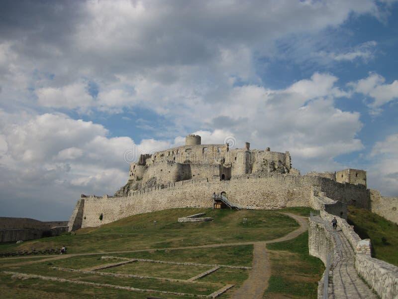 斯皮城堡, Spissky hrad全国文化纪念碑,斯洛伐克 库存照片