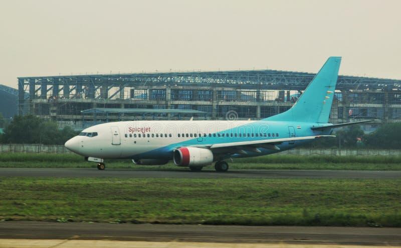 斯皮塞杰航空的波音737 免版税库存照片