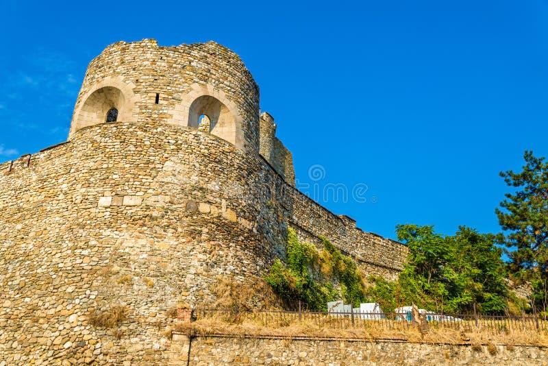 斯科普里堡垒的墙壁 免版税库存图片