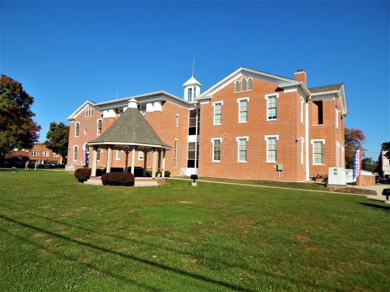 1874斯科特县法院大楼Scottsburg印第安纳 免版税库存照片