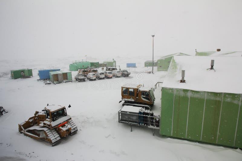 斯科特基地,罗斯岛,南极洲 免版税图库摄影