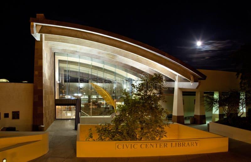 斯科茨代尔市中心图书馆 图库摄影