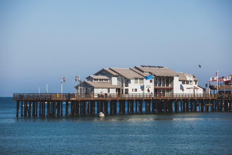 斯第恩斯码头在圣塔巴巴拉,美国 免版税库存图片