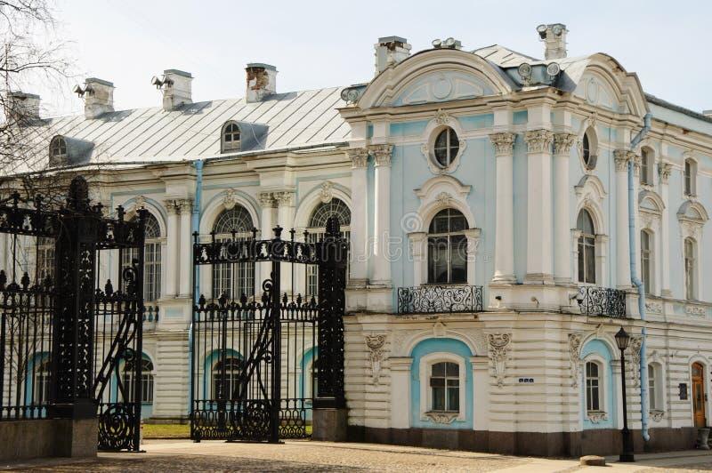 斯莫尔尼宫学院在圣彼德堡,俄罗斯 免版税库存图片