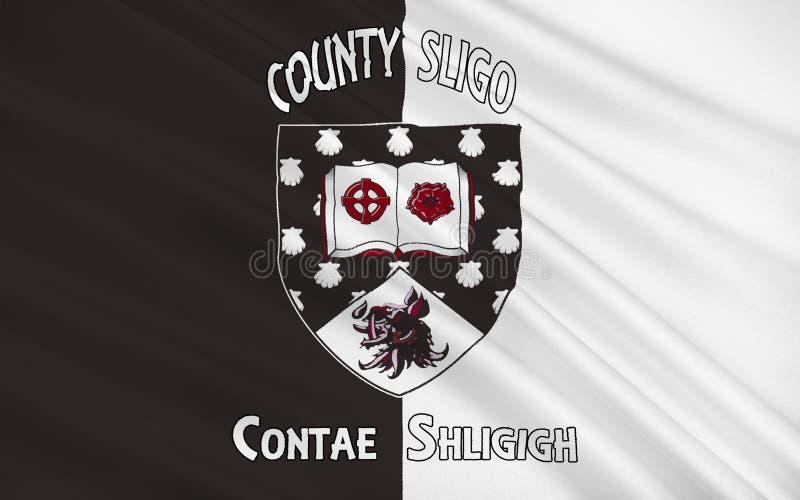 斯莱戈郡旗子是一个县在爱尔兰 库存例证