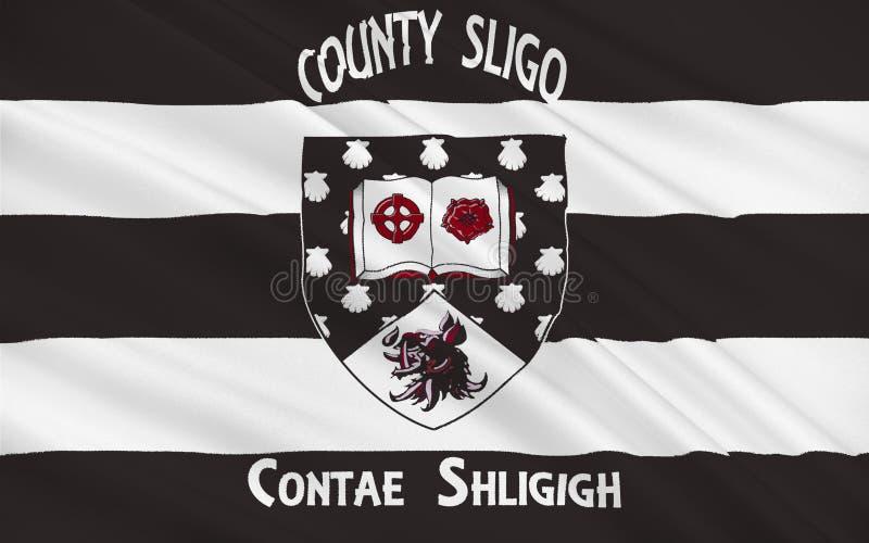 斯莱戈郡旗子是一个县在爱尔兰 免版税库存图片