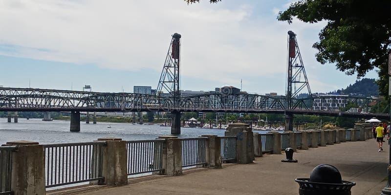斯蒂尔斯桥梁,波特兰,俄勒冈 2019? 免版税库存照片