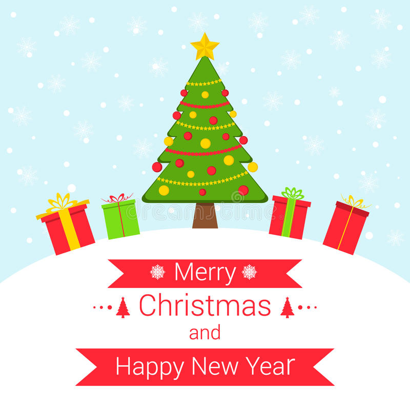斯诺伊与圣诞节元素的冬天背景 皇族释放例证
