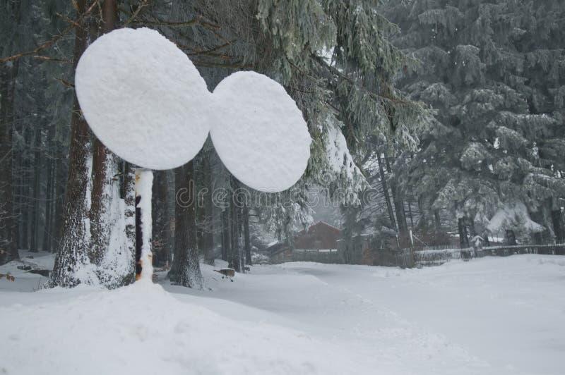 雪道标志 图库摄影