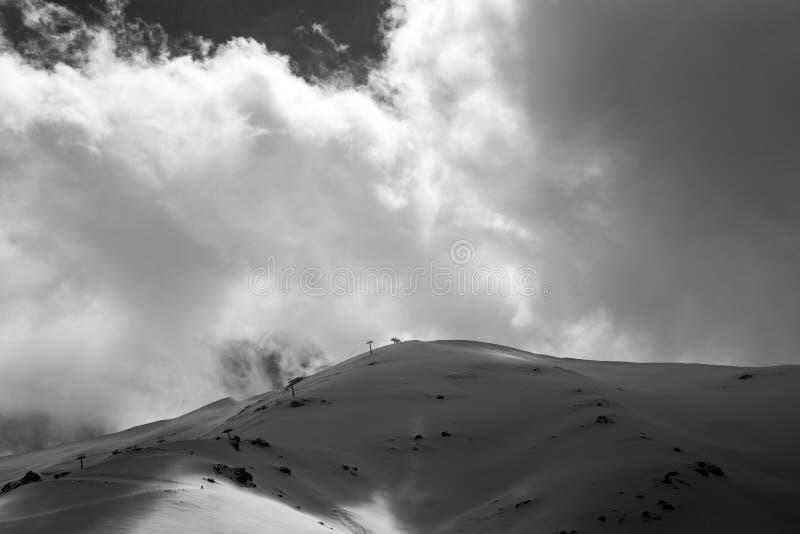 斯诺伊冬天山风景,Bozdag,伊兹密尔,土耳其 库存照片