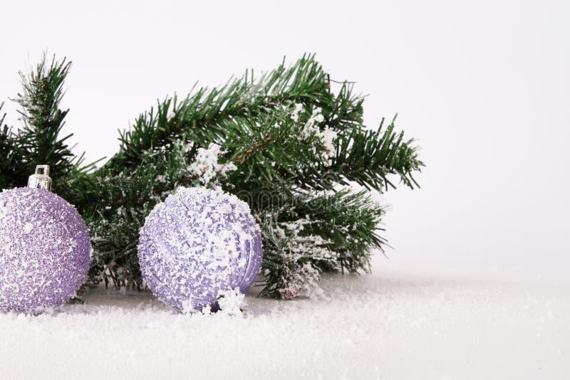 斯诺伊圣诞节装饰品 库存照片