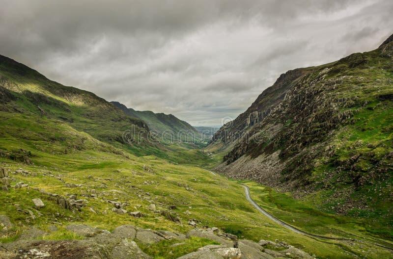 斯诺多尼亚国立公园,威尔士风景  库存图片