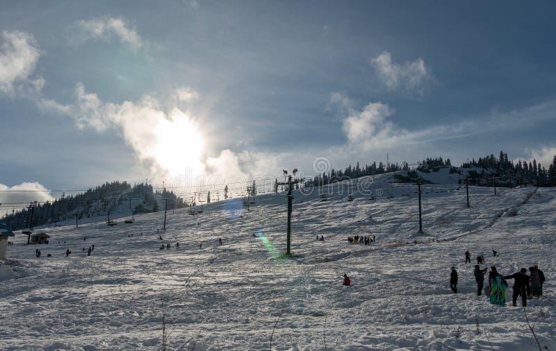 斯诺夸尔米滑雪地区 图库摄影