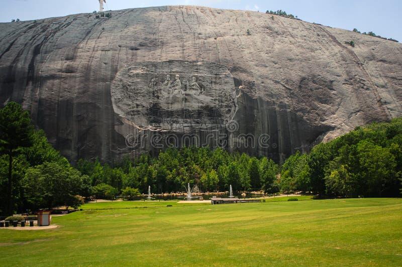 斯通山历史纪念碑在亚特兰大乔治亚美国 库存照片