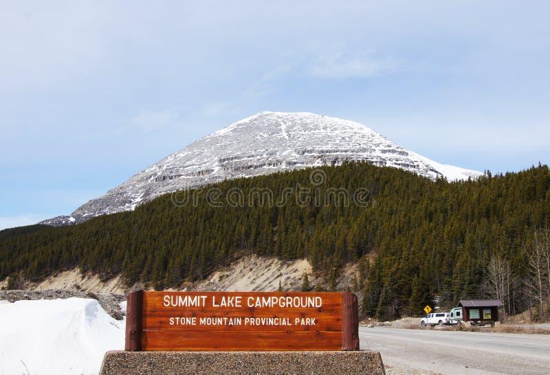 斯通山Provencial公园,不列颠哥伦比亚省,加拿大 免版税库存照片