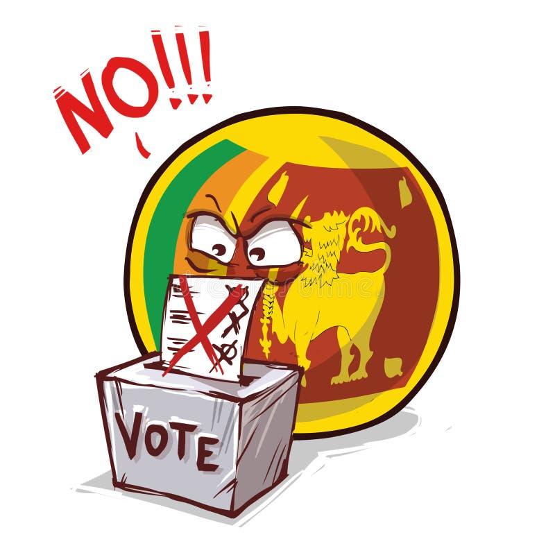 斯里兰卡投反对票国家的球 向量例证