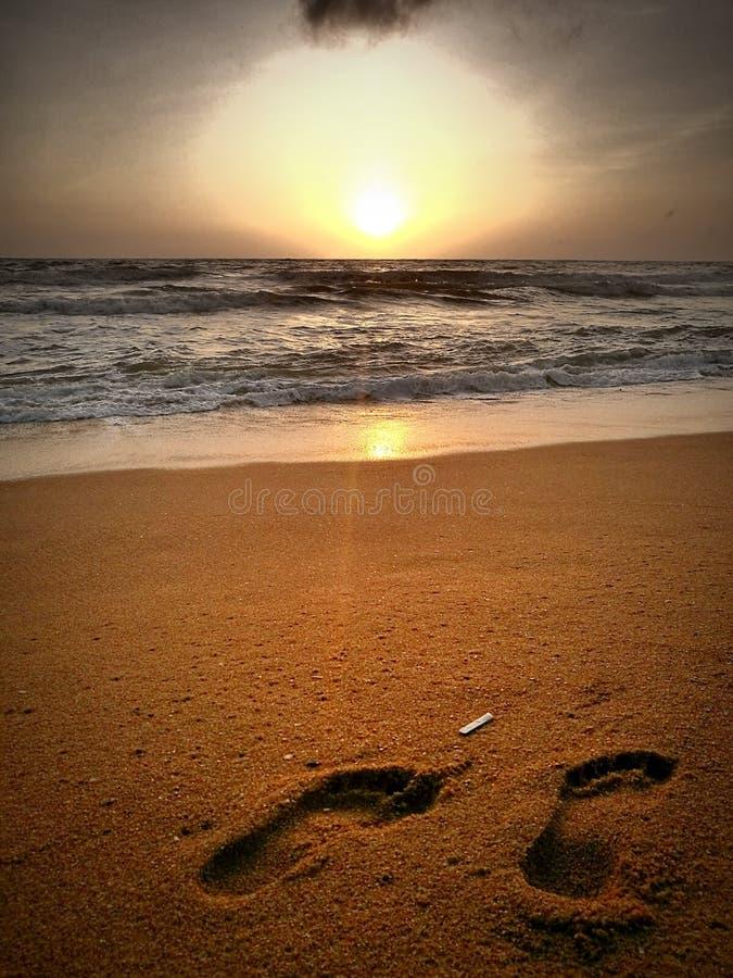 斯里兰卡日落 免版税库存照片