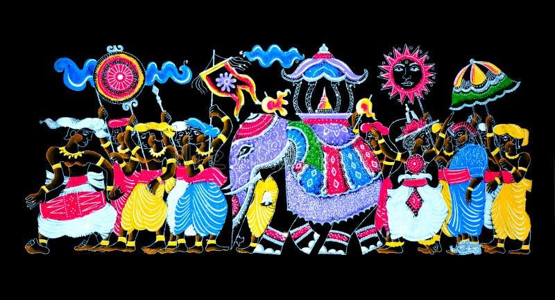 斯里兰卡的传统手工制造闪烁艺术 图库摄影