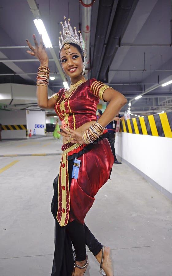 斯里兰卡的女孩 免版税图库摄影