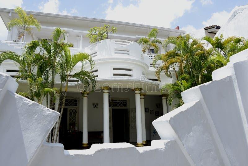 斯里兰卡的荷兰堡垒Deco大厦 免版税库存照片