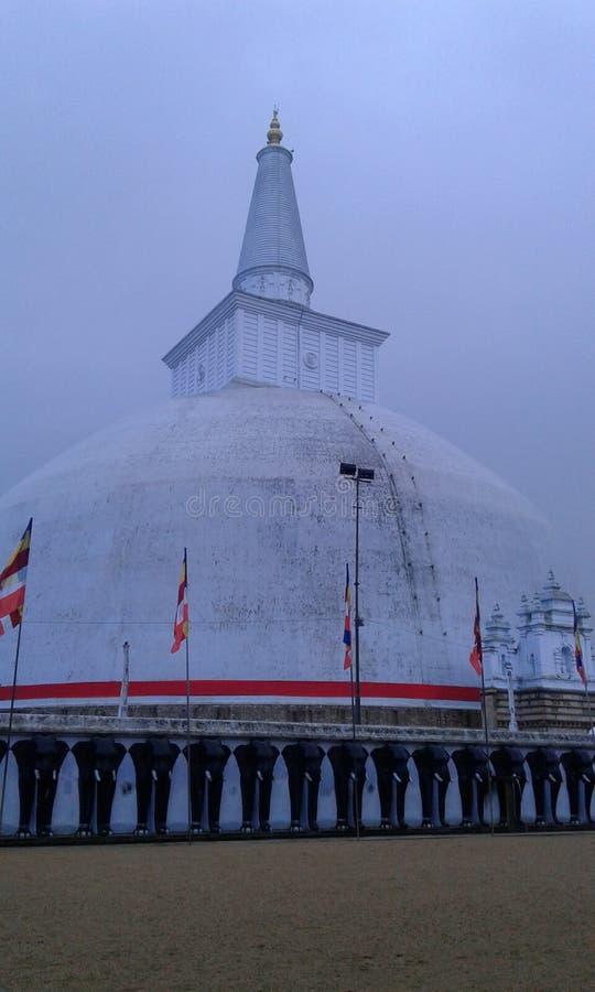 斯里兰卡的nationai stupa ruwanweliseya 免版税库存照片