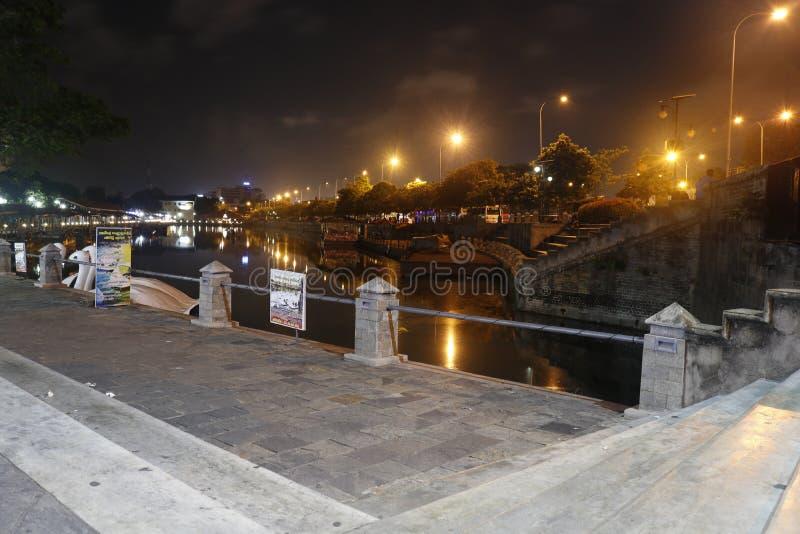 斯里兰卡科伦坡夜景 免版税库存图片