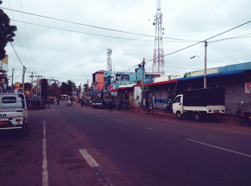 斯里兰卡街道 免版税库存照片