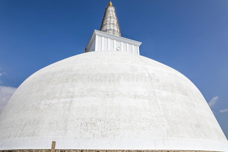 斯里兰卡阿努拉德普勒王国Ruwanwelisaya stupa 库存照片