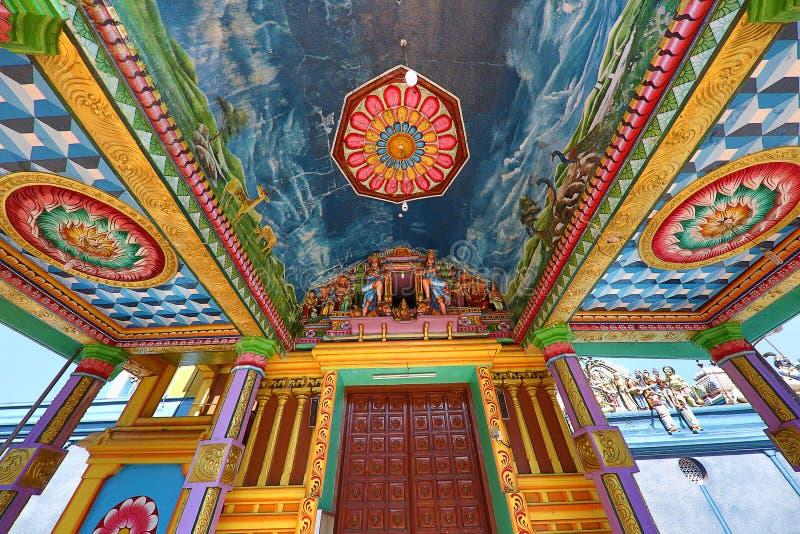 斯里兰卡马塔莱的印度教穆图马里安曼寺 库存图片