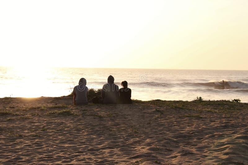 斯里南卡海浪 免版税库存照片