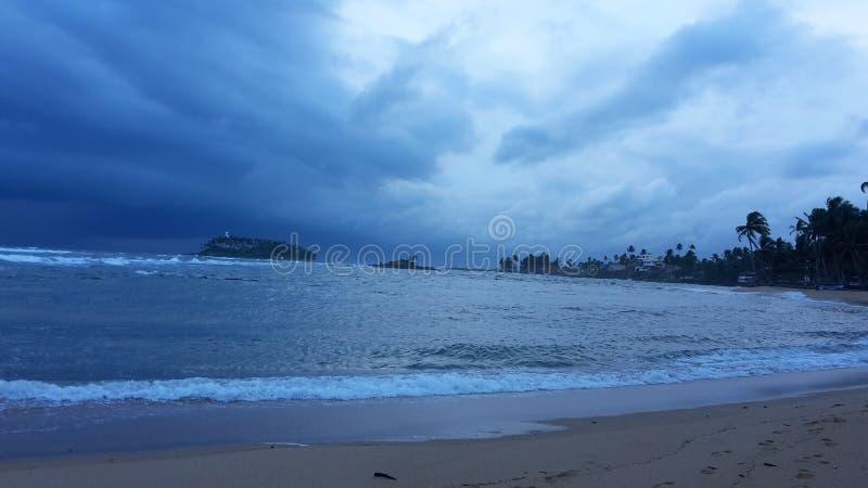 斯里南卡海滩 免版税库存照片
