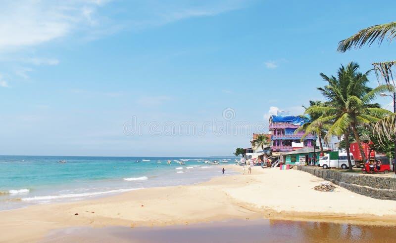 斯里南卡海滩 免版税库存图片