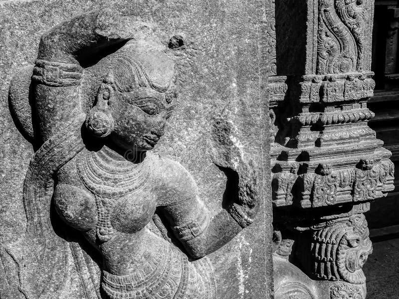 斯里Jalakandeswarar寺庙看法在韦洛尔 免版税图库摄影