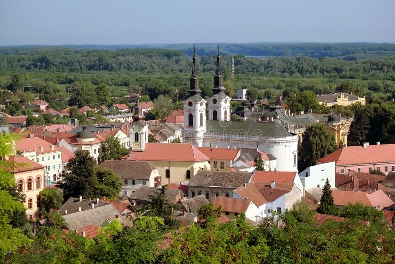 斯雷姆斯基卡尔洛夫奇街市,塞尔维亚 免版税库存照片
