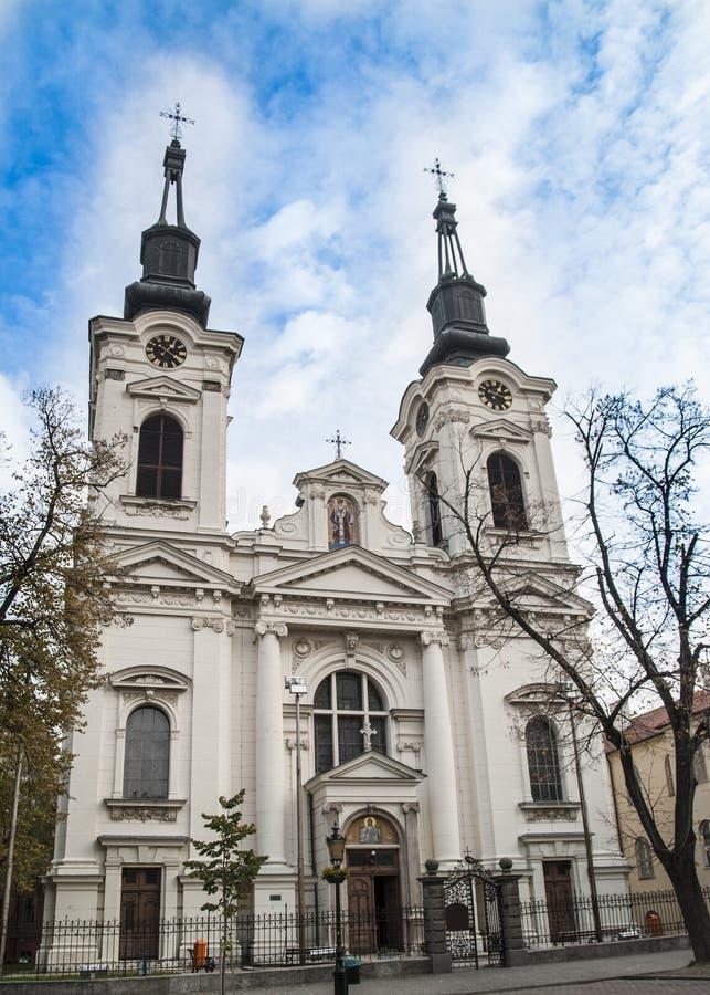 斯雷姆斯基卡尔洛夫奇,塞尔维亚-大约伏伊伏丁那的镇 免版税库存图片