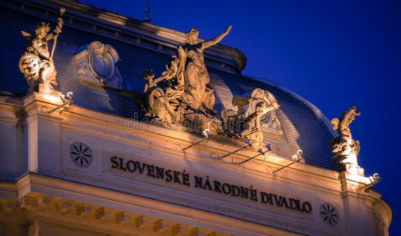 斯洛伐克全国thetre,布拉索夫-斯洛伐克大厦  库存图片