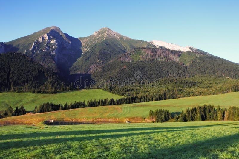 斯洛伐克山- Tatras 库存图片