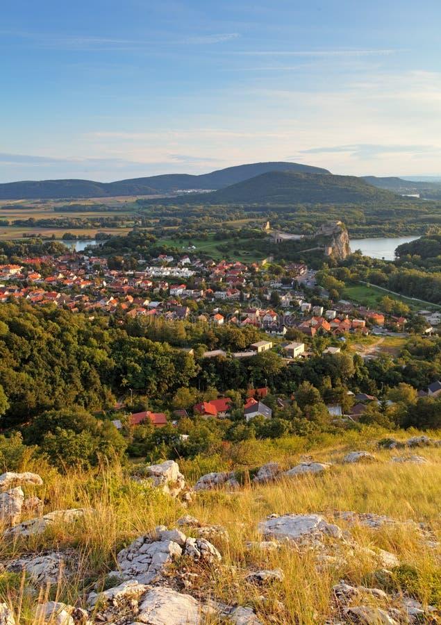 斯洛伐克村庄德温在布拉索夫 图库摄影