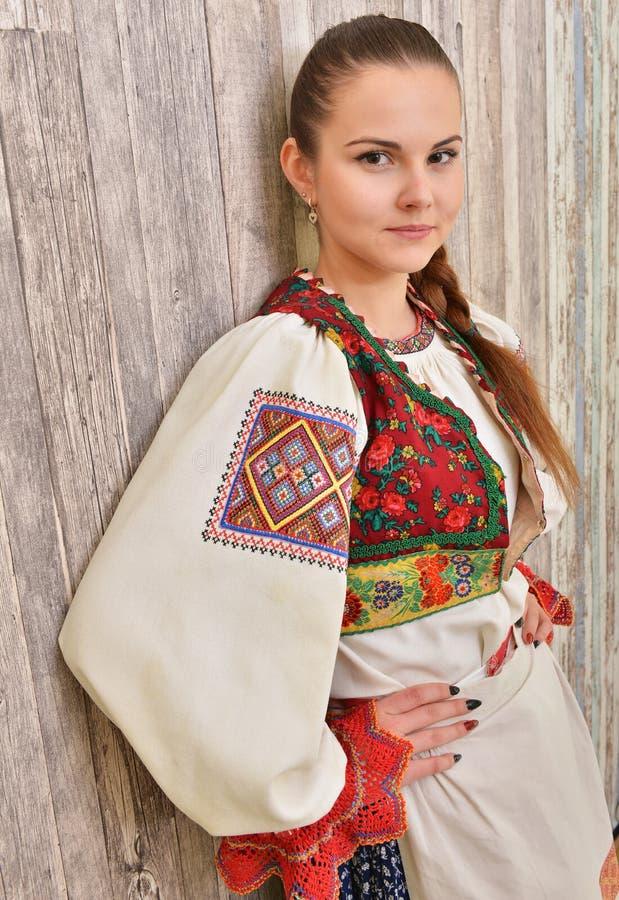 斯洛伐克的民间传说给传统穿衣 免版税库存图片