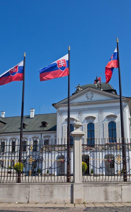 斯洛伐克的总统的住所在布拉索夫 库存照片