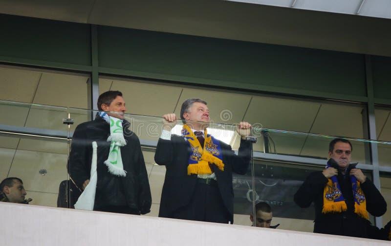 斯洛文尼亚博鲁特・帕霍尔和乌克兰总统Petro的总统 库存照片