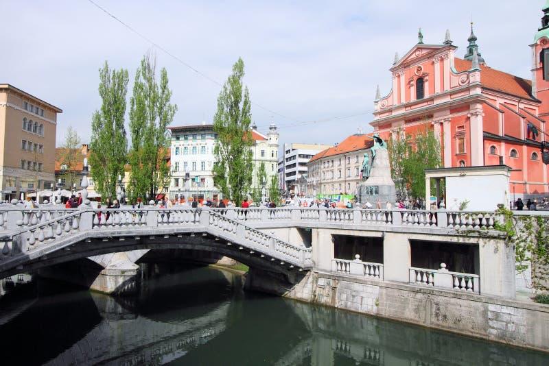 斯洛文尼亚的首都 库存图片
