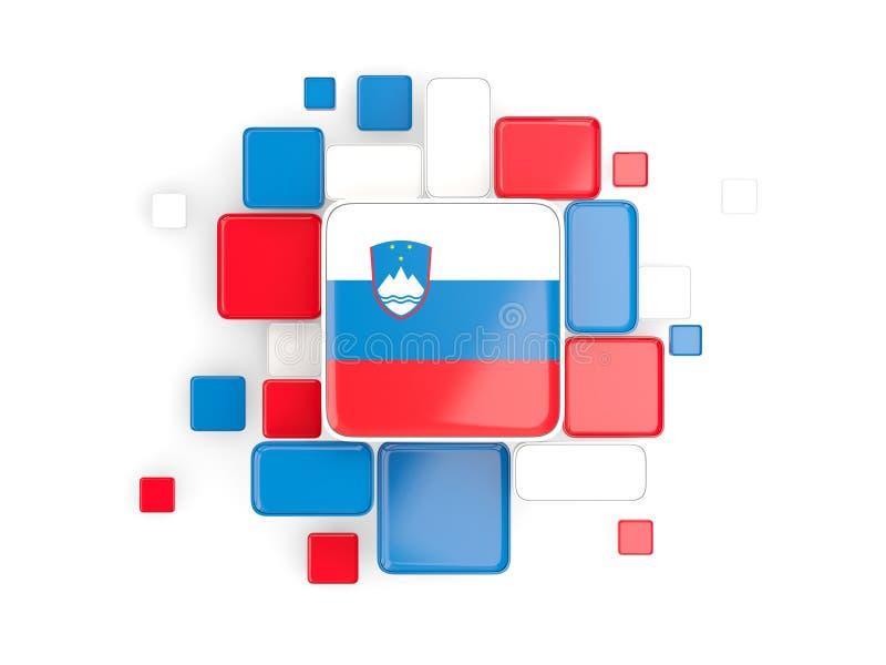 斯洛文尼亚,马赛克背景的旗子 皇族释放例证