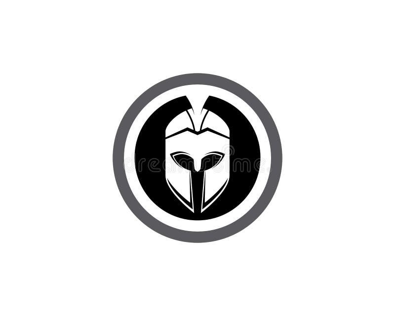 斯巴达盔甲商标模板 皇族释放例证