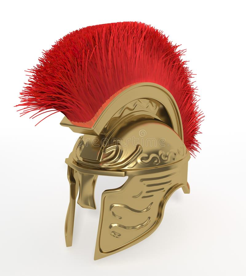 斯巴达盔甲 皇族释放例证