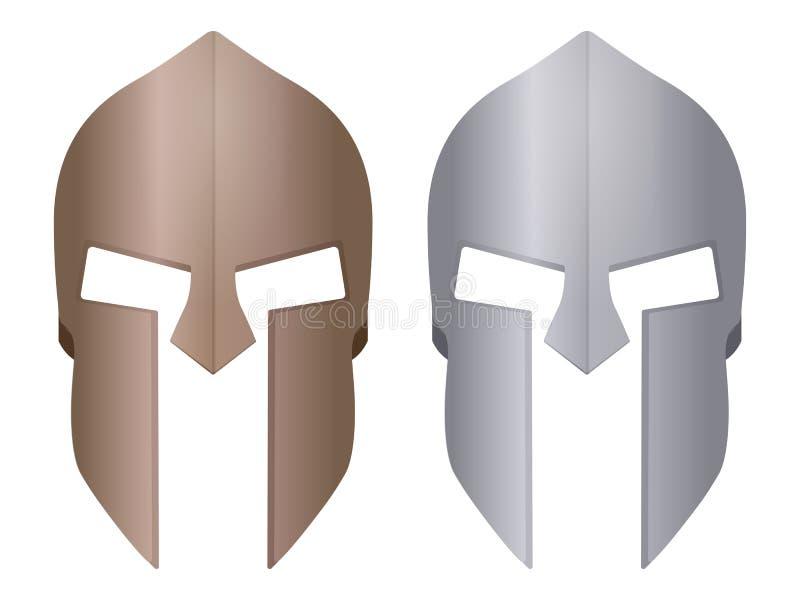 斯巴达盔甲 库存例证