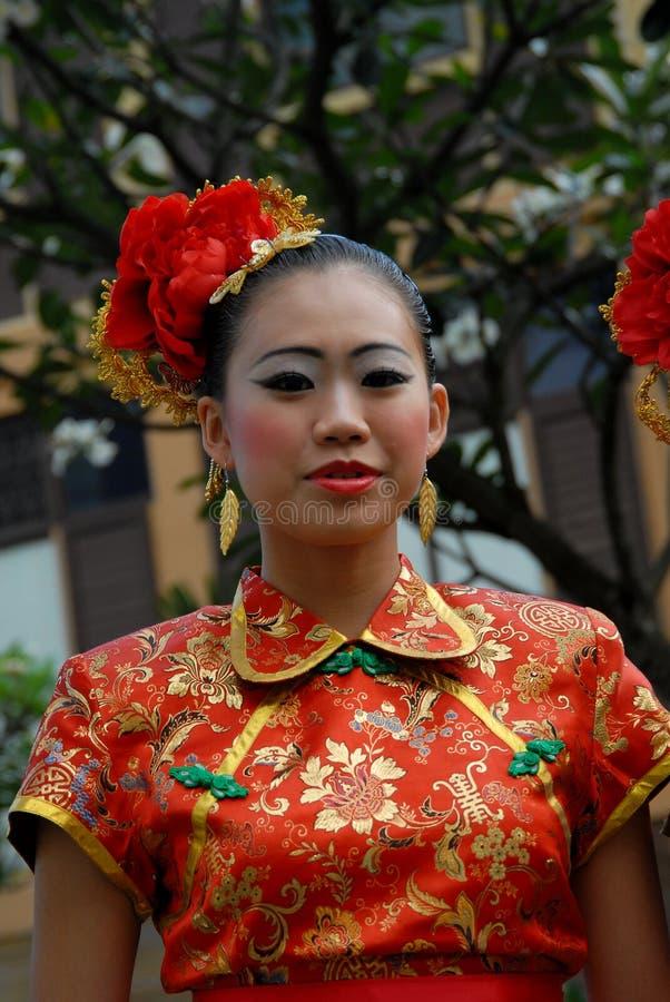新中国女孩 库存照片