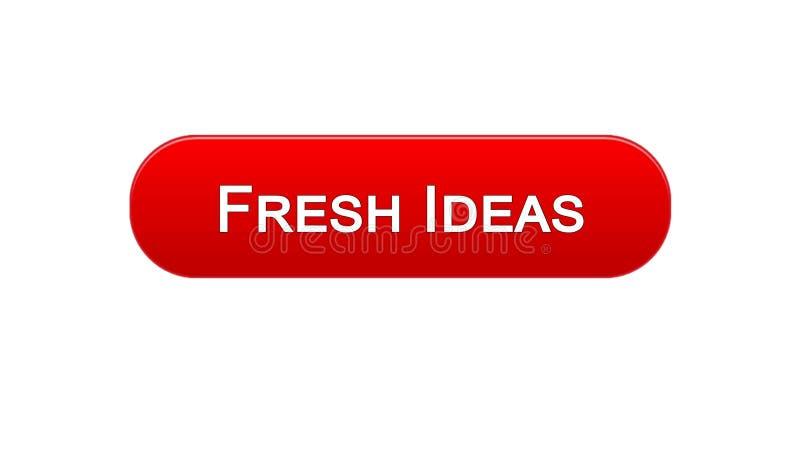 新主意网接口按钮红颜色,企业激发灵感,创造性 库存例证